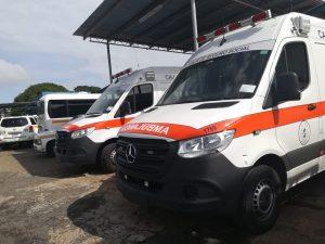 Llegan nuevas ambulancias para la CSS en Veraguas.