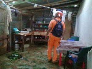 Lluvias dejan afectaciones en Veraguas.