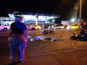Motorizado pierde la vida en accidente de tránsito en Santiago.